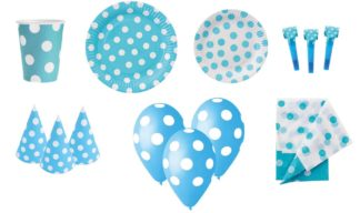 zestaw party niebieski