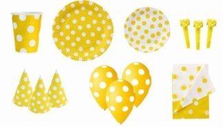 zestaw imprezowy żółty