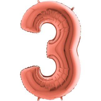 cyfra trzy rosegold