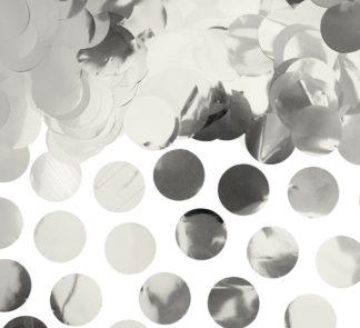 foliowe konfetti srebrne