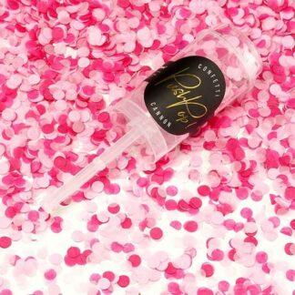 różowe konfetti z bibuły
