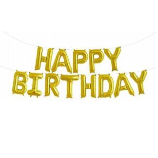 napis happy birthday balon