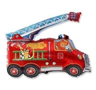 balon foliowy wóz strażacki