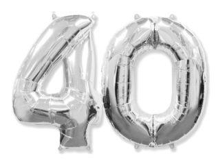 balony cyfry czterdziestka