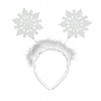 biała opaska śnieżynki