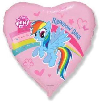 balon serce my little pony