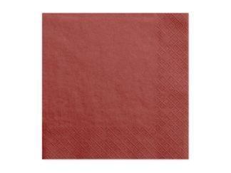 serwetki papierowe czerwone