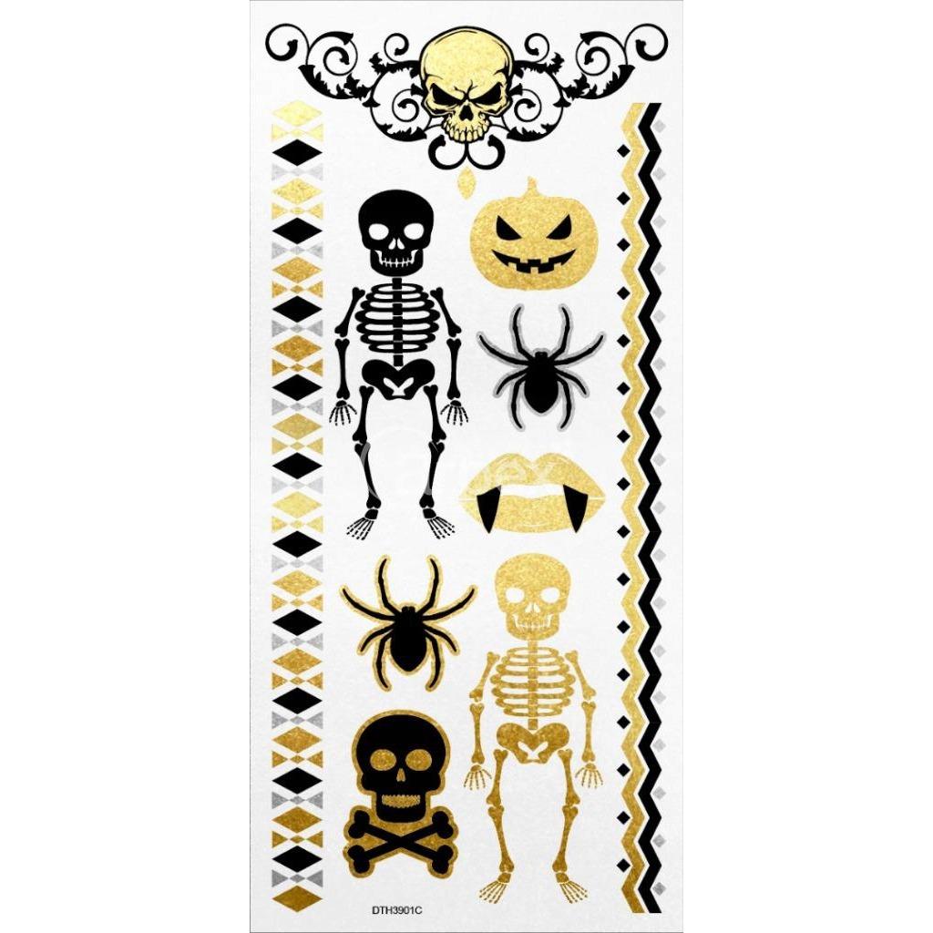 Tatuaże Wodne Halloween Wzór C