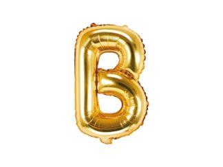 litera b złota