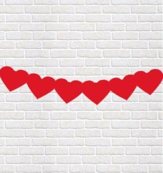 serca czerwone girlanda