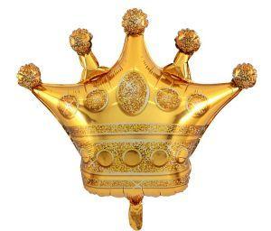 korona złota balon