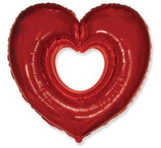 balon foliowy serce czerwone