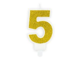 świeczka cyferka 5