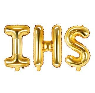 napis IHS złoty