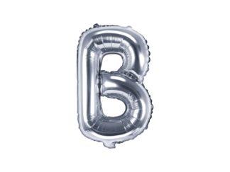 literka B srebrna