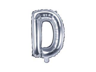literka D srebrna