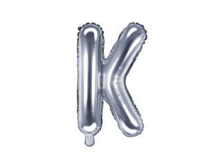 literka K srebrna