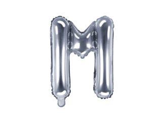 literka M srebrna