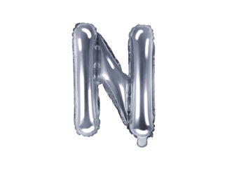 literka N srebrna