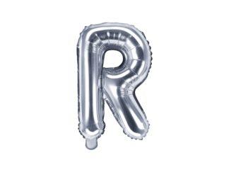 literka R srebrna