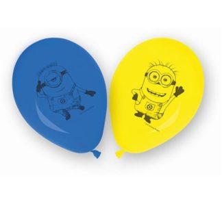 balony lateksowe z minionkami