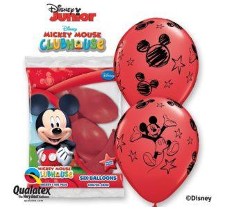 czerwone balony myszka miki