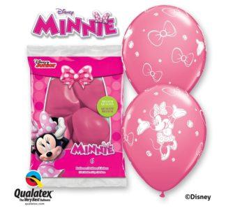 różowe balony minnie