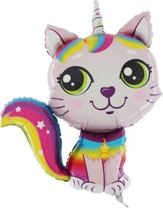 balon na hel kotek różowy